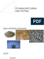 Concrete Manufacturing and Testing