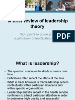 Brief Review of Leadership Theory 2016