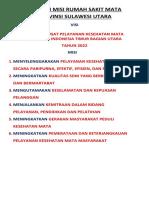 Visi Dan Misi Rumah Sakit Mata Provinsi Sulawesi Utara