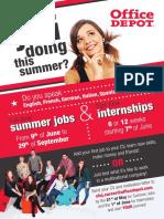 OD - Flyer - Internship & Summer Jobs