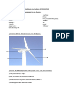 Worksheet Wind Turbines