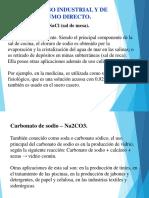 Sales de Uso Industrial y de Consumo Directo.