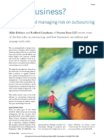 Risky business - Evaluating and managing risk on outsourcing.pdf