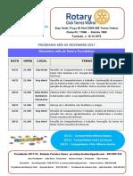 Programa Novembro 2017