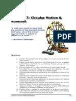 7 - Circular Motion and Rotation