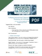 Programa Provisório Colóquio Internacional Figuras da Ficção