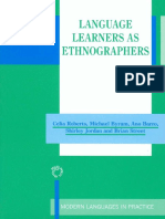 Celia Roberts-Language Learners as Ethnographers (2001)