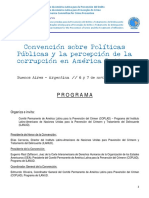 Convención Sobre Políticas Públicas y La Percepción de La Corrupción en América Latina - 6 Noviembre Bs As