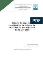 Aspectos de Injetor PEBD CFD