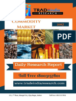 Daily Commodity Prediction Report by TradeIndia Research 31-10-2017