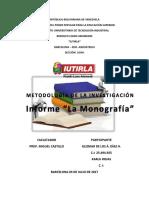 Trabajo de Metodología de La Investigación La Monografía