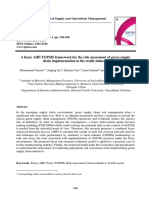 A Fuzzy AHP-ToPSIS Framework for the Risk Assessment of Green Supply Chain Implementation in the Textile Industry