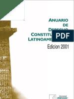 Anuario de Derecho Constitucional no 2001