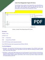 Membuat Instruksi Timer Menggunakan Program PLC Omron