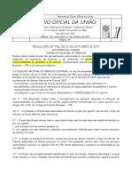 27.10.17 DOU Resolução CNT Nº 706 Regulamentação Multa Para Pedestre e Ciclistas
