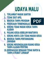10 Budaya Malu