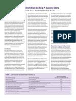 2015DecImplementationofMalnutritionCoding-ASuccessStory