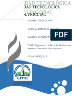 Organismos de Derecho Público que regulan el Comercio Internacional.