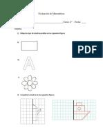 Evaluación de Matemáticas Rotacion