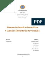 Sistemas Carboniticos y Evaporiticos