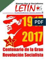 Boletin del Ateneo Paz y Socialismo de noviembre de 2017