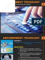 Empowerment Technology  Learning Content Lesson 1