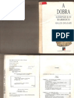 DELEUZE, Gilles. a Dobra. Leibniz e o Barroco
