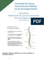 Caso Clinico Columna Cervical