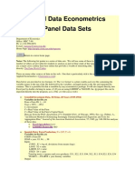 Panel Data EconometricsPanel Data Sets