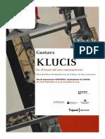 Gustavs Klucis En el frente del arte constructivista