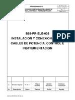 1.- B58-PR-ELE-003 R1 Instalación y Conexionado de Cables