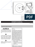 Tascam CD-gt1 Manual
