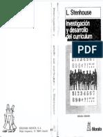 STENHOUSE- Investigación y Desarrollo Del Curriculum Cap. 1