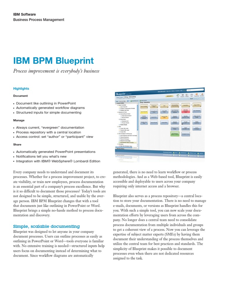 Brochure ibm bpm blueprint business process management business brochure ibm bpm blueprint business process management business process malvernweather Image collections
