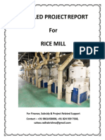 Rice Mill - Detailed Project Report - 9t Per Hour - For Finance, Subsidy & Project Related Support Contact - 9861458008