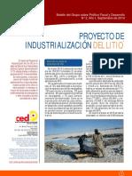 Proyecto de Industrializacion Del Litio