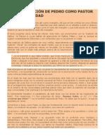 Galarreta - La Confirmación de Pedro Como Pastor de La Comunidad