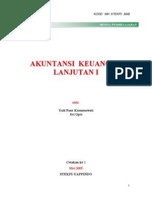 Kunci Jawaban Akuntansi Keuangan Lanjutan Perspektif Indonesia Buku 1 Guru Galeri