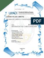Revisiones Sistemáticas y Metaanálisis Final