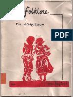 Benites. El folklore en Moquegua. 1986