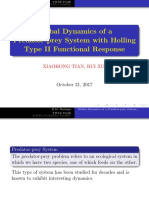 global dynamics of a predator prey system with holling type 2 functional response