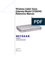 Wireless Cable Voice Gateway Model CVG834G