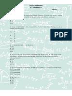 Prueba de Sintesis Matematica