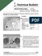 Vw.tb.01!05!07 Airbag Monitoring Light on, Passenger Occupant