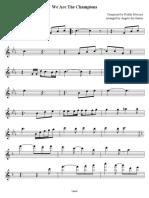 Wearethechampions - Violino I