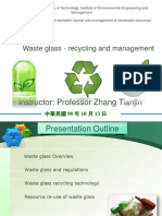 Glass  Waste - Recycling and Management