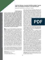 Efectos de Un Bioestimulante Sobre La Tolerancia Al Calor Asociada Con La Capacidad Fotosintética, La Estabilidad Térmica de La Membrana y La Producción de Polifenoles de La Ballica Perenne