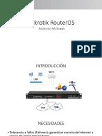Mikrotik Router os - Balanceo Multiwan