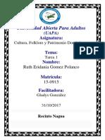 UNIDAD I CULTURA, FOLKLORE Y PATRIMONIO DOMINICANO.docx