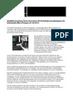 Qualitätsvorsprung in der Herstellung von Mikropumpen für die Medizin-, Analyse- und Umwelttechnik durch innovative 3D-Technik